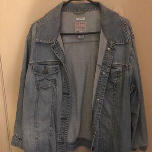 Plus size jean jacket, blouses, dresses